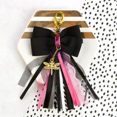 """Glam My Prima Planner Bow Tassel with Clasp 2.75""""X4.75"""""""