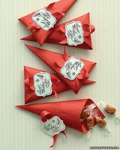 bolsitas de papel y toffees