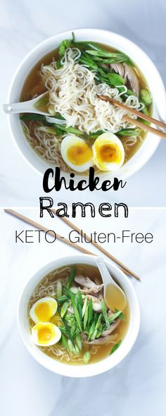 Easy Keto Chicken Ramen - This low-carb ramen recipe requires very little work and is immensely satisfying. Ramen Recipes, Bad Carbohydrates, Keto Chicken, Sugar Detox, Low Carb, Ethnic Recipes, Food, Low Carb Recipes, Eten