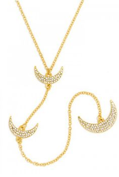 pave moons necklace