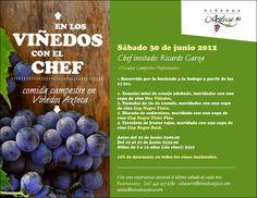 En los viñedos con el chef /Viñedos Azteca/ Qro/ 30 Junio 2012