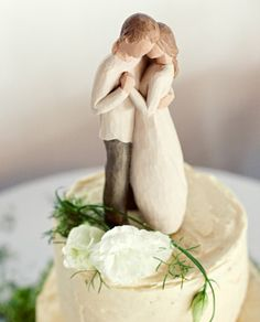 Wood Carved Cake Topper... I WANT!!!