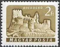 Sello: Boldogkő (Hungría) (Castles (1960-64)) Mi:HU 1744A,Sn:HU 1363,Yt:HU 1341A Frame, Postage Stamps, Castles, Stamps, Picture Frame, Frames, Hoop, Picture Frames