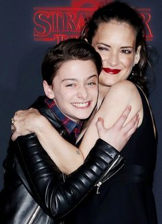 Noah Schnapp and Winona Ryder arrive at the premiere of Netflix's 'Stranger Things' Season 2 at Regency Bruin Theatre on October 26, 2017 in Los Angeles, California.