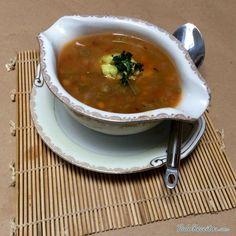 Receita de Sopa de lentilhas vegetariana - Fácil