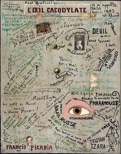 Francis Picabia, L'Oeil cacodylate. 1921  Collage, huile sur toile  Paris, Musée National d'Art Moderne - Centre Georges Pompidou