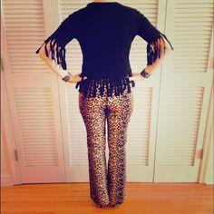 🐯 Halloween Leopard Print Pants 🐯 Halloween Leopard Print Pants! Zip closure. 97% cotton, 3% spandex. Necessary Objects Pants Boot Cut & Flare