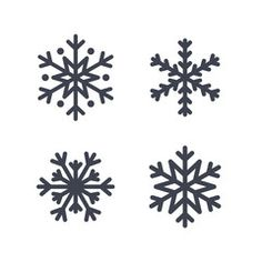 snowflake icons set gray silhouette snowflakes signs isolated on white background flat design symbol of winter snow christmas new year holiday