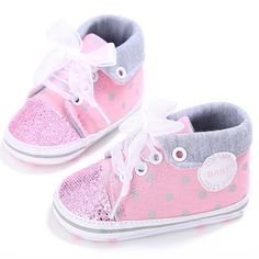 47b99d40946 Baby Girl Sequins Canvas High Sneakers