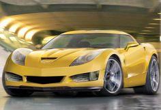 Gotta love a yellow Corvette!