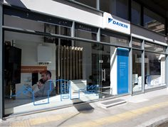 Daikin Hellas - strategic analysis & execution led the way to retail success Retail Concepts, Retail Experience, Lead The Way, Showroom, Skyscraper, Real Estate, Group, Architecture, Arquitetura