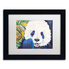 Pat Saunders-White 'Mei Hua' Framed Matted Art