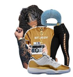 """Flashing lights 📸"" by kamxryn ❤ liked on Polyvore featuring Stussy, The Gold Gods and WearAll"