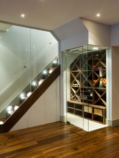 Beautiful Walnut hardwood floors!  Love the wine closet!