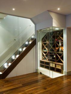 Beautiful Walnut hardwood floors!  Love the wine closet!