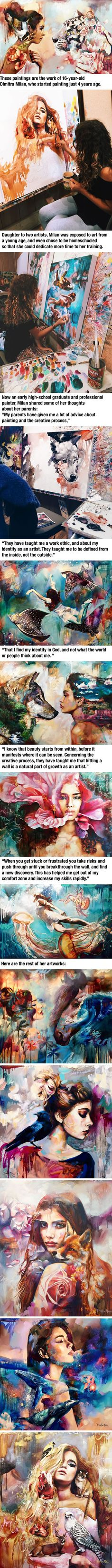 Talented 16-Year-Old Artist Turns Her Wildest Dreams Into Paintings (by Dimitra Milan) - 9GAG