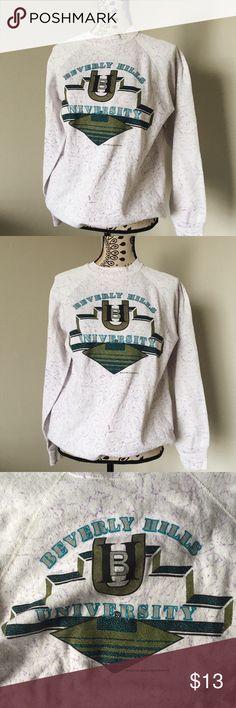 Beverly Hills University Pullover beverly hills university pullover - from the 80's with love. adorable sweatshirt. unisex. #california #vintage #urban #lounge #athletic Sweaters