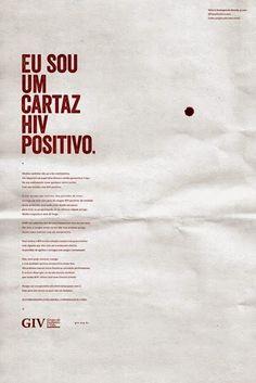 Cartazes HIV positivo contra Preconceito