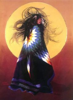 Love lives in the hair where streams of love endure the passage of time that leans on everything that swings. And the great to and fro help us to always know we are Great Spirits in the winds, just have to learn to begin. White Buffalo Calf Woman sings