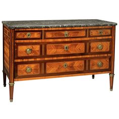 Louis XVI Period Parquetry Commode