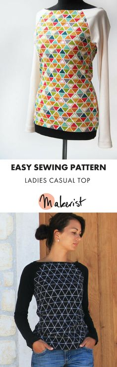 9843c6948f Basic top pattern, perfect for beginners! #makerist #maker #sewing #sew