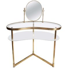 1950s Italian Polka dot vanity table | From a unique collection of antique and modern vanities at http://www.1stdibs.com/furniture/tables/vanities/