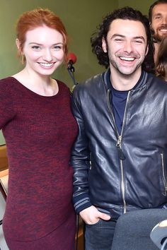 Eleanor Tomlinson and Aidan Turner from Poldark