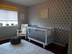 Project Nursery - Yellow and Gray Nursery - Wallpaper?