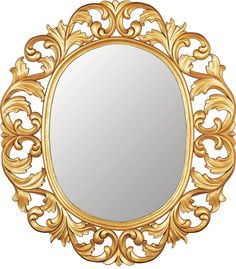 """Mirror Royal Touch """"With its clear """"royal"""" references this artistically handcrafted mirror will travel you to French chateaus of another era…"""" Dimensions: cm: 110 x 125 / inches: 43 x 49 Frame: Hand-carved and hand-finished wooden frame available in 18 finishes. Reference: 100.035"""