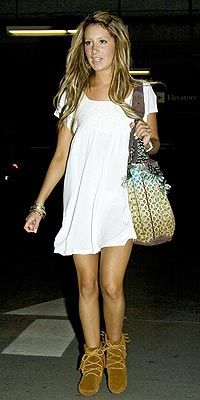 Ashley Tisdale - Moccasin Boots