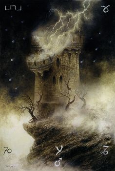 Luis Royo - The Labyrinth Tarot - Major Arcana: The Tower