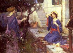 John William Waterhouse - The Annunciation - ジョン・ウィリアム・ウォーターハウス - Wikipedia