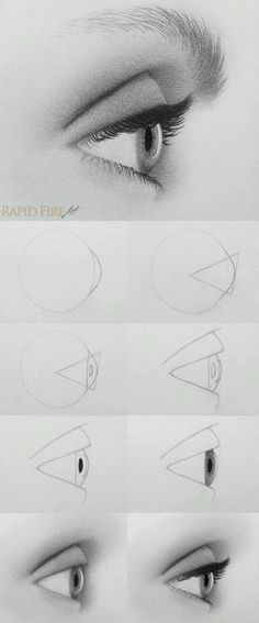 ideas for drawing tutorial eyes pictures disegno occhi, tutori Pencil Art Drawings, Drawing Sketches, Drawing Ideas, Drawing Faces, Eye Drawings, Drawing An Eye, Eye Sketch, Side Face Drawing, Art Drawings Easy