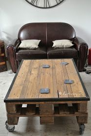 Ideas For Pallet Furniture Diy Table Design Trendy Furniture, Recycled Furniture, Refurbished Furniture, Furniture Plans, Cool Furniture, Furniture Outlet, Discount Furniture, Pallet Furniture Coffee Table, Diy Coffee Table