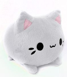 Custard Meowchi Mochi Kitten Plush- Mochi is a Japanese rice cake snack that is soft & sweet. These kittens are so puffy they look just like sweet mochi~ They will keep you warm and happy all night long! They stand 5.2 inches tall from ear tip to tummy, are overstuffed, & made from a super soft minky fabric with embroidered features! Hypoallergenic materials. Recommended ages 5+