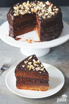This is probably the healthiest and most delicious chocolate cake you will ever have! It is so decadent and the chocolate ganache is to die for.