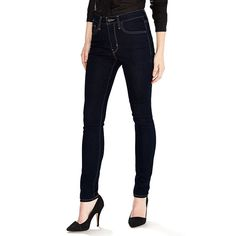 Women's Levi's® 721 Modern Fit High Rise Skinny Jeans, Size: 24X32, Dark Blue