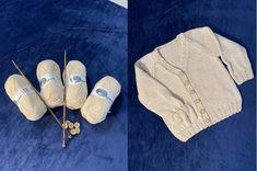 Detský pletený svetrík z eko priadze bavlna/hodváb Laguna s drevenými gombíkmi. Baby eco sweater cotton/silk, wooden buttons.