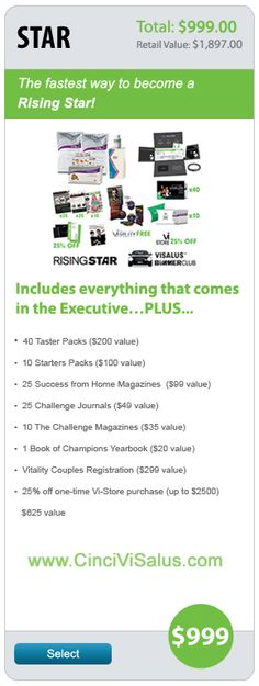 Become a ViSalus Distributor – Challenge Promoter www.GetFitCinci.com
