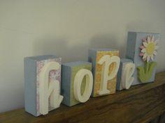 Spring Hope Wooden Blocks Decor - 5 Piece