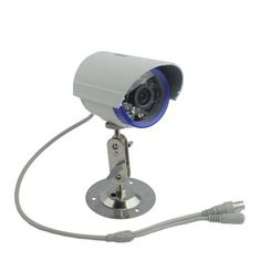 "1/4"" Sharp CCD 420tvl ?8-16ir LED Waterproof Security Camera White-60 by Crazy Cart. $20.95. Features:   1.New and high quality   2.Compact design and   easy to operate   3.Unique appearance,?8-16IR LED    4.Adopt the latest   infrared technology, produce better long-distance night vision   effect   5.Dust-avoid protect glass   6.Durable alloy composition  Specifications:   1.TV System:NTSC   2.Pixels NTSC: 510(H)   x 492(V)   3.Image Device:1/4"" Sharp CCD   4.Horizontal..."