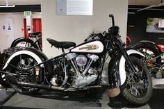 OldMotoDude: 1938 Harley-Davidson 61EL Knucklehead on display a...