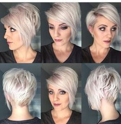 Layered Short Haircut rundes gesicht, 35 Best Layered Short Haircuts for Round Face 2018 - Love this Hair Short Hair Cuts For Round Faces, Round Face Haircuts, Short Hair With Layers, Hairstyles For Round Faces, Pretty Hairstyles, Short Haircuts, Short Cuts, Hairstyle Ideas, 2018 Haircuts