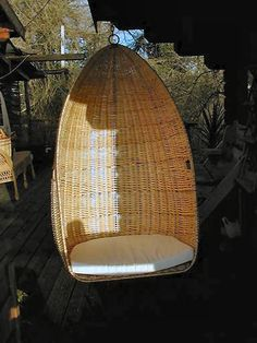 Outdoor Wicker Swing Chair - Country Home Design Ideas