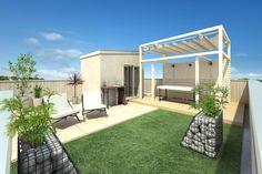 Pergola With Glass Roof Pergola Shade, Diy Pergola, Pergola Kits, Shade Trees, Outside Living, Glass Roof, Patio Roof, Small Patio, Terrazzo