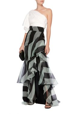 Exclusive Pico Basile Silk Organza Skirt by Johanna Ortiz Casual Date Night Outfit Summer, Night Outfits, Simple Dresses, Summer Dresses, Formal Dresses, Chic Dress, Dress Up, Western Dresses, Skirt Outfits
