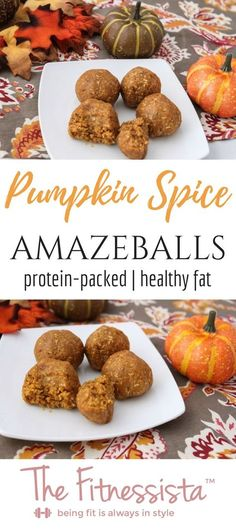 These pumpkin protein balls are the perfect seasonal healthy snack! They pack a punch of protein and healthy fat in delicious dessert-like bites. fitnessista.com