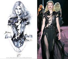 gucci fashion sketches