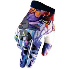 2016 100% iTrack Motocross Gloves - Paradise Blue