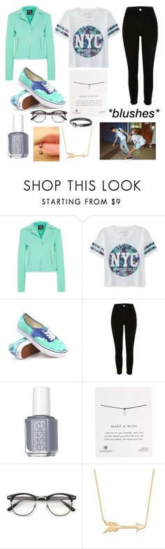 """""""I like these colors together"""" by froyolover002 ❤ liked on Polyvore featuring McQ by Alexander McQueen, Aéropostale, Vans, Essie, Dogeared, Roberto Coin and David Yurman"""